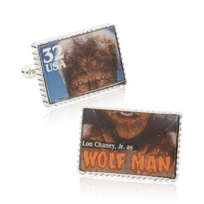 Wolfman Stamp Cufflinks