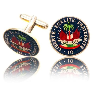 Haiti Coin Cuff Links