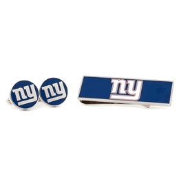 New York Giants Cufflinks And Money Clip Gift Set