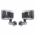Door Mirror Kit, Chrome, 07-17 Jeep Wrangler by Rugged Ridge