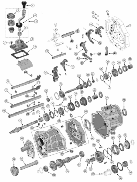 jeep ax15 transmission parts for 1987