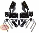 Spring Mounting Kit (Front), fits Jeep Wrangler 1987-1995 Includes Brackets, U-Bolts and Shackle Kits