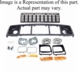 Header Panel Kit,�Fits 1991-1996 Cherokee with Chrome Grille