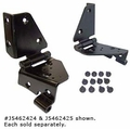 Windshield Hinge Set, Jeep CJ (1976-1986), Factory Style, Left Side.
