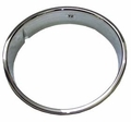 Right Side Chrome Headlight Bezel, Passenger Side, fits 1997-2006 Jeep Wrangler