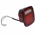 LED Tail Light Assembly, Left Side, 76-06 Jeep CJ and Wrangler by Rugged Ridge