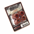 Prothane Shackle Bushing Kit for Jeep 1976-86 CJ Rear, RED