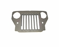 Grille assembly, w/ Willys mark, CJ3B, 1953-64