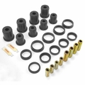 Prothane Control Arm Bushing Kit for Jeep 1997-06 WRANGLER, fits all Upper & Lower Control Arms, BLACK
