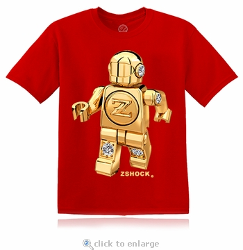 Gold Diamond ZBot Robot Red T-Shirt