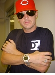 Rob Dyrdek With His Icey Gold Custom G-Shock by ZShock