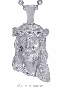 The White Jesus Piece Pendant in 14K White Gold by ZShock