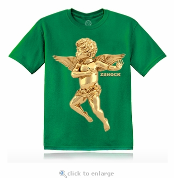 Gold Angel Of Virtue Green T-Shirt