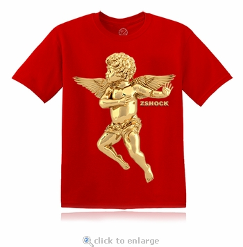 Gold Angel Of Virtue Red T-Shirt