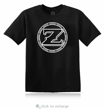 ZShock Icon Logo T-Shirt Black With White