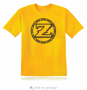 ZShock Icon Logo T-Shirt Gold With Black