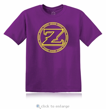 ZShock Icon Logo T-Shirt Purple And Yellow