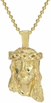 The Yellow Gold mini Jesus Piece Pendant by ZShock in 14K Yellow Gold