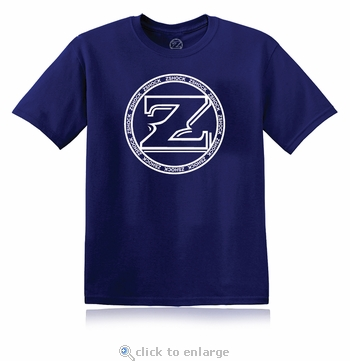 ZShock Icon Logo T-Shirt Navy Blue With White