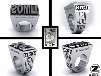 ZShock X Rich Hill Custom LIMOS Punch Ring
