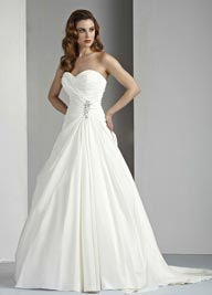 Davinci 50028 Taffeta Wedding Dress,  ivory or White