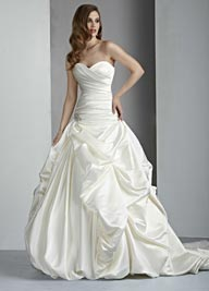 Davinci Bridal Satin Wedding Dress 50004 Ivory, White