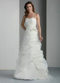 Davinci Organza Wedding Dress 50008 Ivory, White In Stock
