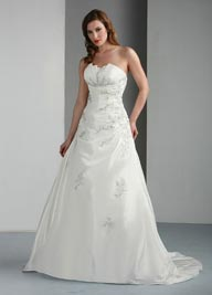 Davinci Bridal Taffeta Wedding Dress Style 50010