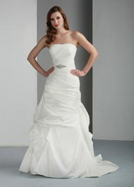 Davinci 50012 Taffeta Wedding Dress Ivory or White