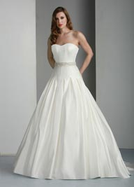 Davinci 50013 Bridal Satin Wedding Dress  Ivory or White