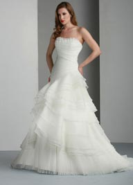 Davinci Organza Wedding Dress Style 50015  Ivory or White