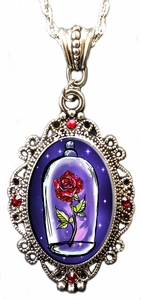 Beauty & the Beast Rose Sparkles Cameo