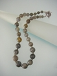 Faceted Labradorite Sterling Silver Graduated Beaded Necklace