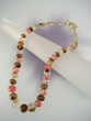 Multicolor  Faceted  Multiquartz  & Vermeil  Graduated Beaded Necklace