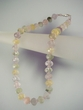 Multicolor Faceted Gemstone  Beaded  Necklace