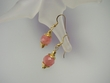 Rose Quartz & Vermeil Drop  Earrings