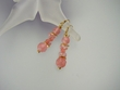 Rose Quartz & Vermeil Dangle  Earrings