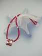 Unique Red Coral Sterling Silver  Necklace