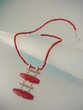 Modern Red Coral Sterling Silver Pendant Necklace - SOLD