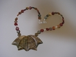 Picasso Jasper Sterling Silver Pendant Beaded Necklace