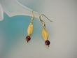 Picasso Jasper  & Vermeil Dangle Earrings