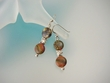 Picasso Jasper Sterling Silver Dangle Earrings