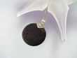 Modern Lava Rock Sterling Silver Pendant Necklace