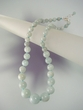 Aquamarine  & Sterling Silver Graduated Beaded Necklace
