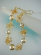 Citrine / Quartz / Crystal  & Sterling  Silver Beaded Necklace