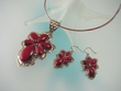 Red Jasper Sterling Silver  Necklace and Earrings Set
