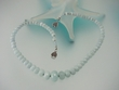 Faceted Aquamarine Sterling Silver Beaded Necklace