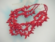 Bamboo  Coral  Sterling Silver Beaded Necklace