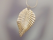 Sterling Silver Leaf  Pendant Necklace