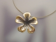 Modern Sterling Silver Flower Necklace